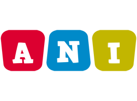 Ani Logo   Name Logo Generator - Kiddo, I Love, Colors Style