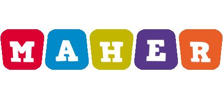 Maher Logo Name Logo Generator Kiddo I Love Colors Style