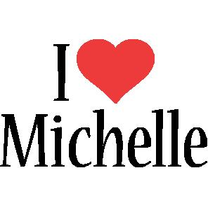 Michelle Logo Name Logo Generator I Love Love Heart