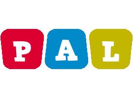 Pal Logo | Name Logo Generator - Kiddo, I Love, Colors Style