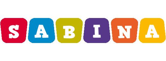 Sabina Logo | Name Logo Generator - Kiddo, I Love, Colors Style