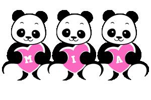 mia logo create custom mia logo love panda style