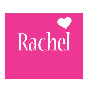 Rachel logo create custom rachel logo love heart style for Name style design