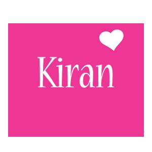 Kiran love-heart logo