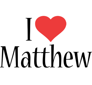 Matthew Logo Name Logo Generator Kiddo I Love Colors Style