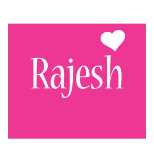 Rajesh love-heart logo