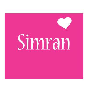 Simran love-heart logo