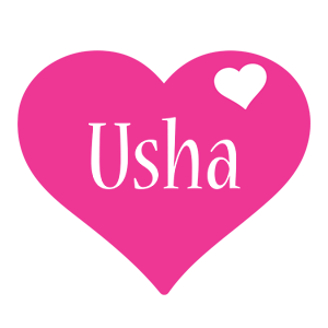 usha logo name logo generator birthday love heart